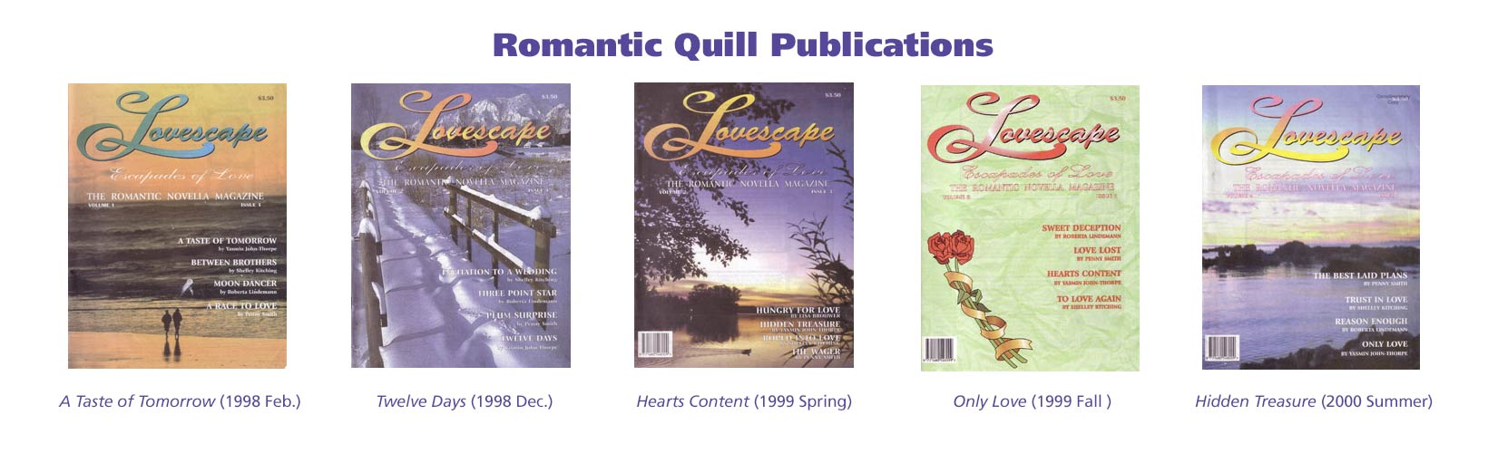 John-Thorpe's stories in Romantic Quill Publications
