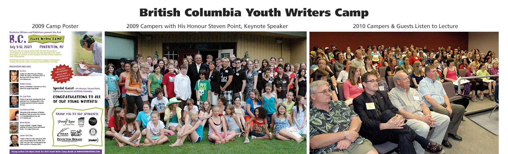 B.C. (British Columbia) Youth Writers Camp