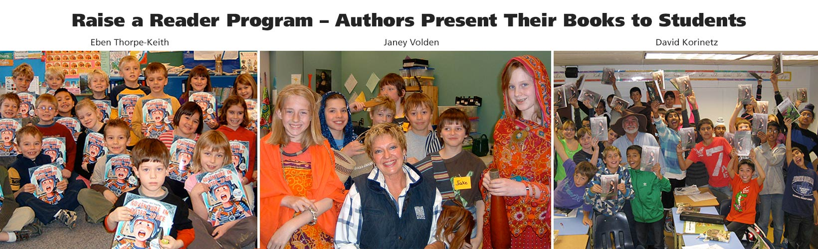 Raise a Reader – Authors Present Their Books to Students